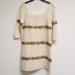 Calypso St. Barth Dresses - Calypso St. Barth Cream Knit Shift Dress Size XS